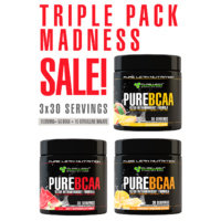 TRIPLE PACK 30 SERVE PURE BCAA PACK 3 FLAVOURS