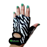Womens Gym Gloves - Zebra Design