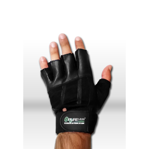 Gym Gloves with extra wrist support - Black Small